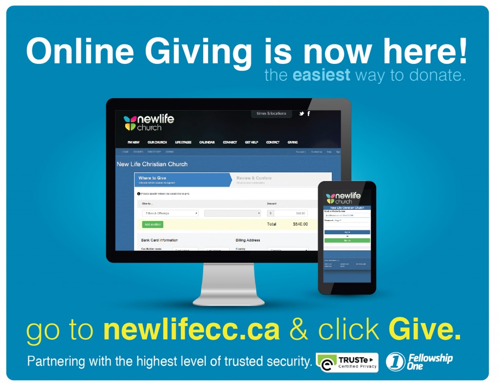 New Life online giving