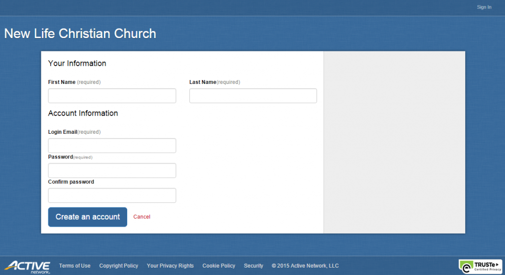 New Life Christian Church online community