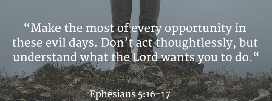 Ephesians 5:16-17
