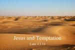 Jesus and Temptation