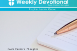 From Pastor's Thoughts - August 28