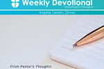 From Pastor's Thoughts - October 30