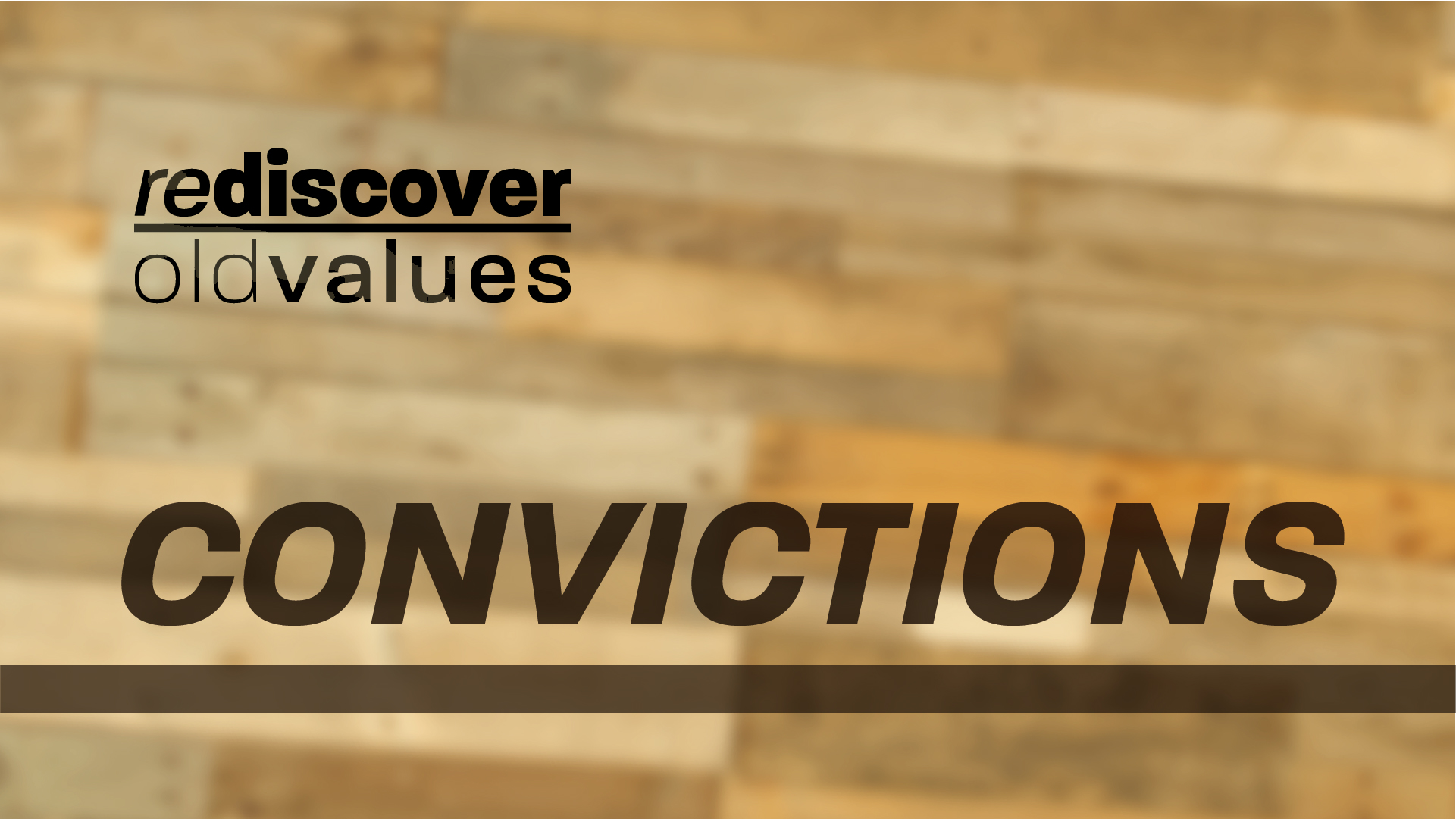 Rediscover Old Values - Series Graphics_Projector _Title _week 2
