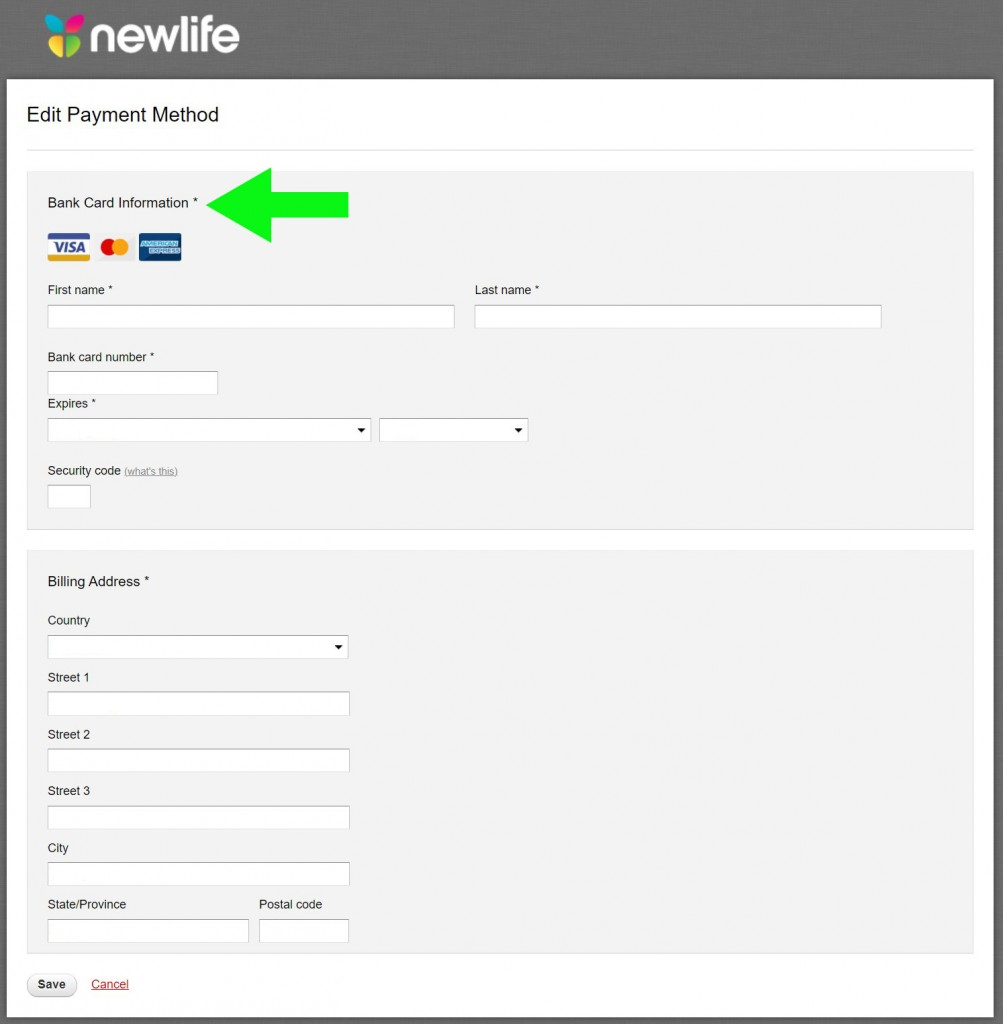 Giving - Edit Payment Details