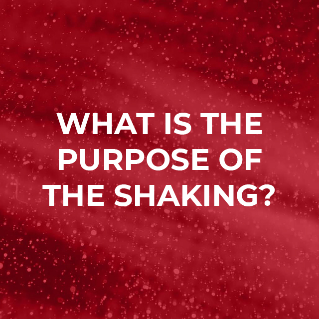 What is the purpose of shaking?