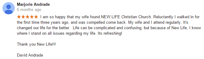 David Andrade review of New Life Christian Church