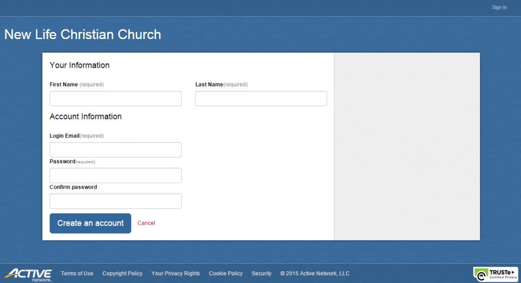 New Life Christian Church online community